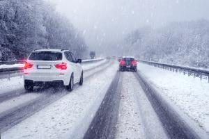 Bim Fahren im Schnee ist volle Konzentration gefragt.