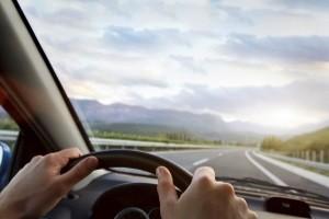 Vor Beginn von einem Fahrertraining, werden die richtige Sitzpisition sowie die richtige Lenkradhaltung geprüft.
