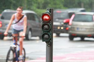 Wer mit dem Fahrrad an einem Critical-Mass-Event teilnimmt, muss die Verkehrsregeln beachten.