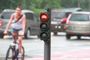In Deutschland gibt es verschiedene Varianten von Fahrradampeln.