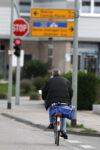 Fahrradfahrer im Straßenverkehr