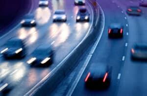 Fahrzeuge auf einer Kraftfahrtstraße