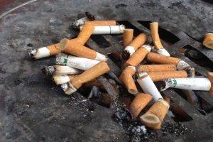 Vor der Fahrzeuginnenreinigung muss der Aschenbecher von Zigarettenstummeln befreit und gründlich gereinigt werden