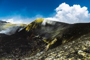 Feinstaub: Die Messwerte können auch durch natürliche Ursachen wie Vulkanausbrüche schwanken.