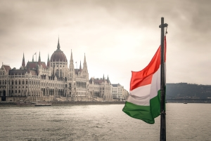 Flagge aus Ungarn.