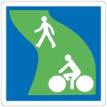 Frankreich: Hinweis auf einen Grünweg