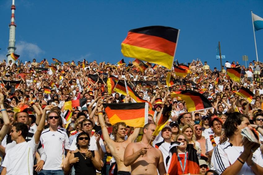 Public Viewing bei einer Fußball-WM
