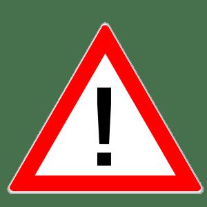 Gefahrenzeichen gelten für Lkw und Pkw.