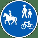 Verkehrszeichen in Dänemark: Rad-, Reit- und Gehweg