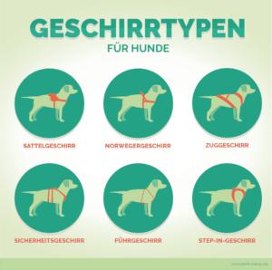 Wer seinen Hund per Hundegeschirr am Fahrrad befestigen will, sollte sich zuvor über die verschiedenen Geschirrtypen für Hunde informieren.