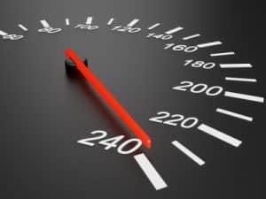 Die Geschwindigkeit bei einem Quad sollte stets eingehalten werden.