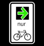Grünpfeil für Radfahrer