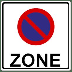Das Halteverbot: Anfang und Ende werden durch klare Zeichen markiert.