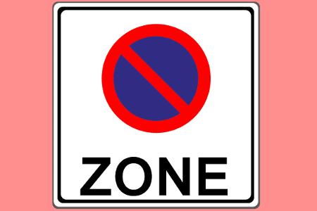 Schild einer Halteverbotszone