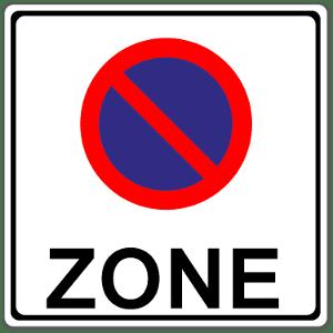 Die Halteverbotszone gilt für einen festgelegten Bereich.