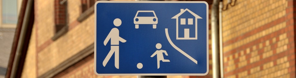 Verkehrsberuhigter Bereich – bekannt als Spielstraße