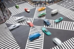 Die Induktionsmessung erfolgt durch Sensoren im Straßenbelag