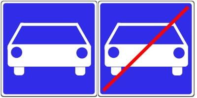 Sie erkennen den Anfang einer Kraftfahrstraße am Schild 331.1. Das Zeichen 331.2 markiert deren Ende.