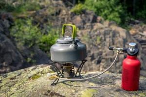 Vielfältig einsetzbar für die Krisenvorsorge: Ein Gas-Kocher kann Mahlzeiten oder auch das Waschwasser erwärmen.