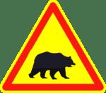 Verkehrszeichen in Kroatien: Achtung Bär