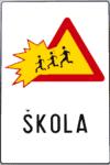 Verkehrszeichen in Kroatien: Achtung Schule