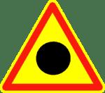 Verkehrszeichen in Kroatien: Achtung Unfallschwerpunkt.