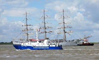 Die Küstenwache des Bundes ist in den Küstenmeeren der Nord- und Ostsee unterwegs.