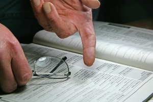 Der Linienverfolgungstest prüft die Orientierungsfähigkeit.