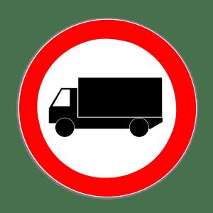 Bei Missachtung vom LKW-Durchfahrtsverbot droht eine Strafe.