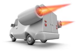 Für Lkw gelten besondere Begrenzungen bei der Geschwindigkeit.