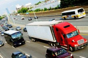 Ein LKW-Unfall droht