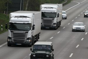 Es handelt sich um eine LKW-Maut in Lettland.