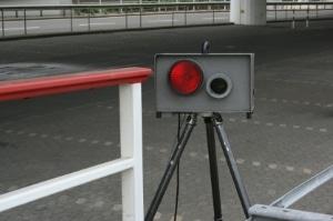 Ein mobiler Blitzer (Multanova 6F)