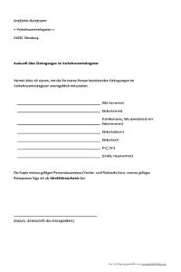 Antrag auf Punkteauskunft in Flensburg