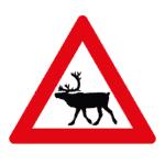 Verkehrszeichen Norwegen: Achtung, Elch/Rentier
