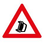 Verkehrszeichen Norwegen: Achtung, Unfallschwerpunkt.