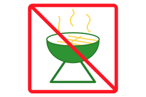 Beachten Sie: Auch im Park kann das Grillen (wie im Wald) verboten sein.