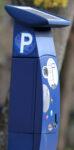 Blauer Parkscheinautomat
