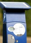 Parkscheinautomat frontal fotografiert