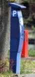 Parkscheinautomat von der Seite