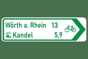Pfeilwegweiser zum Radwanderweg