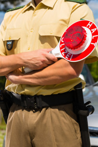 Die Polizei nimmt den Wildunfall auf und alarmiert den Jagdpächter