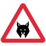 Portugal: Verkehrszeichen Achtung Luchse