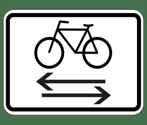 Zusatzzeichen: Auf Radverkehr achten