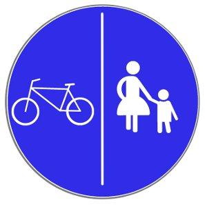 Eine Radwegebenutzungspflicht wird unter anderem durch dieses Verkehrszeichen angezeigt.
