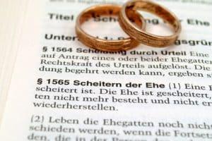 Eine Rechtsschutzversicherung gilt in der Regel nicht für Scheidungen