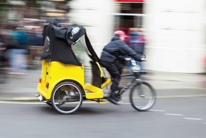 Die Rikscha entwickelt sich zur Alternative im Stadtverkehr