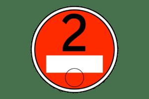 Die rote Umweltplakette erhalten Fahrzeuge der Schadstoffgruppe 2.