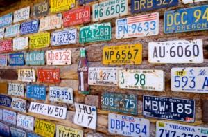 Saisonales Autokennzeichen