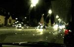Schlechte Sicht bei Autofahrt